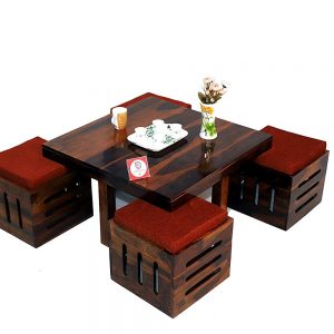 Center Coffee Table With Four Stools