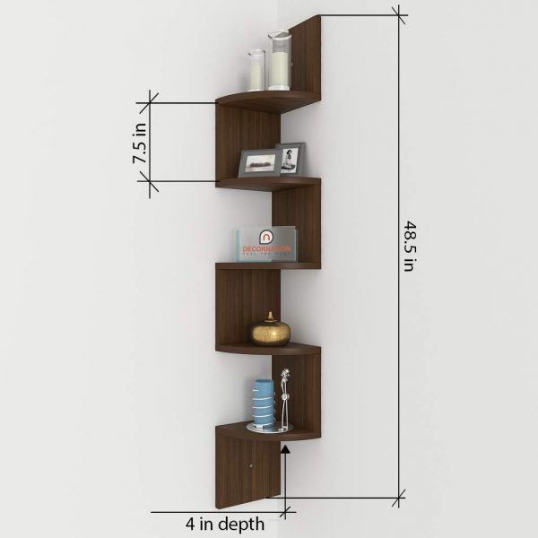 Size Specification corner wall mounted shelf