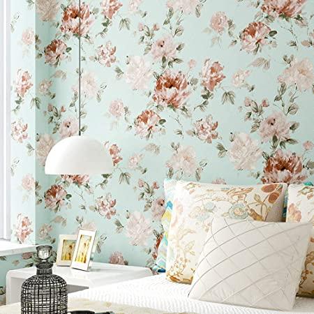 Floral wallpaper idea for walls