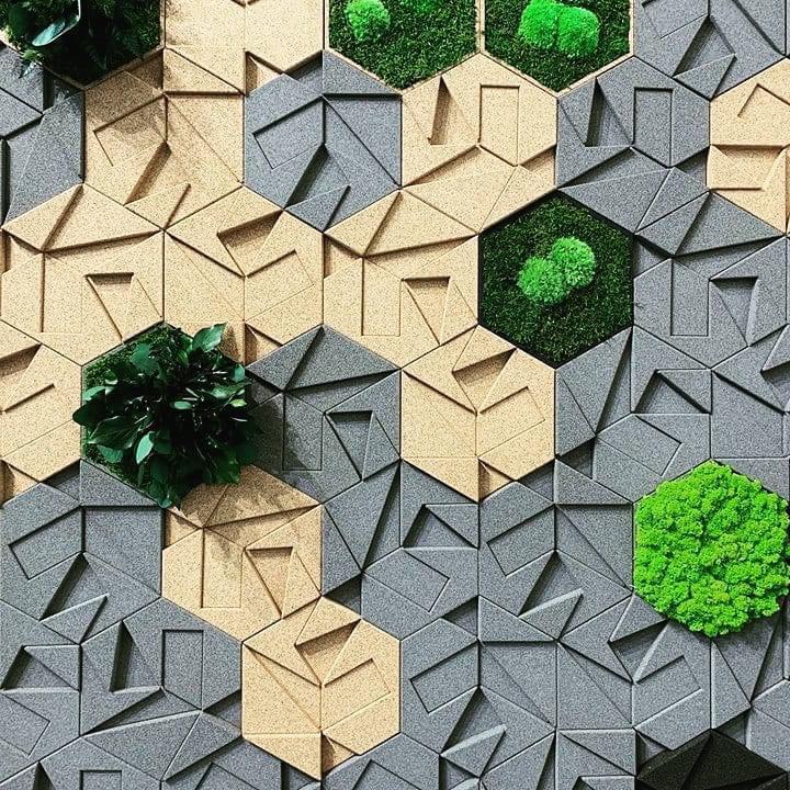 Wall finishing with cork panels